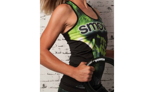 FITNESS TOP - Green Crystal Camouflage | women